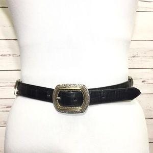 Vintage Black/Brown Leather Belt